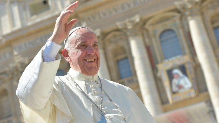 Papa na canonização de Madre Teresa de Calcutá. Foto: Vatican News