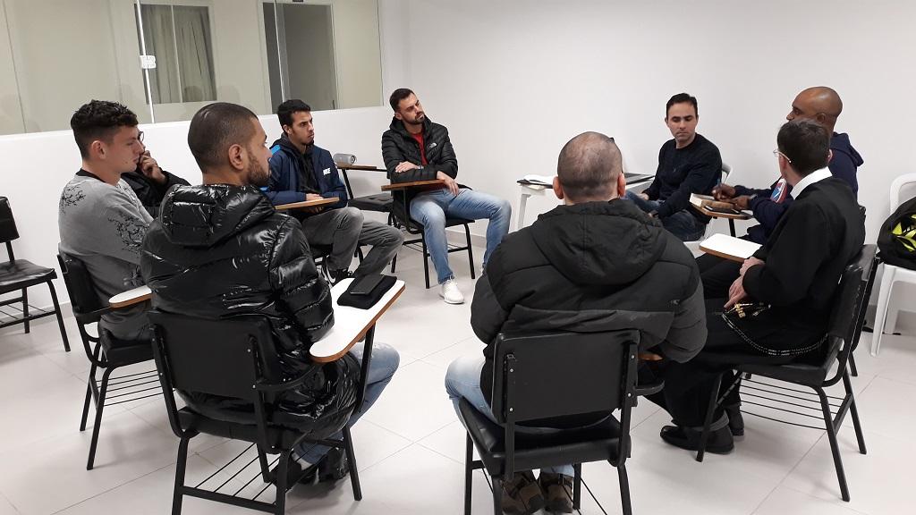 Reunião entre a Coordenação da Pastoral do Esporte do Perpétuo Socorro e integrantes da Rede de Esportes da Arquidiocese.