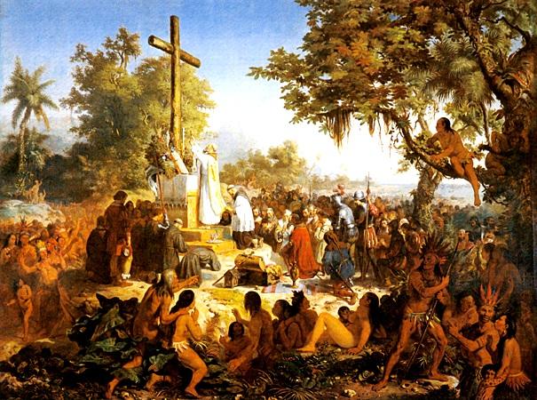 Meirelles, Victor (1832 - 1903) - Primeira Missa no Brasil , 1860 reprodução: jovensconectados