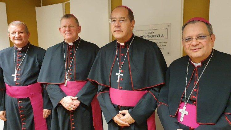 Presidência da CNBB em visita à Rádio Vaticano - Foto: Reprodução Vatican News