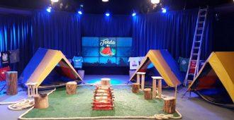 Cenário do programa Vem pra Tenda (Foto: divulgação)