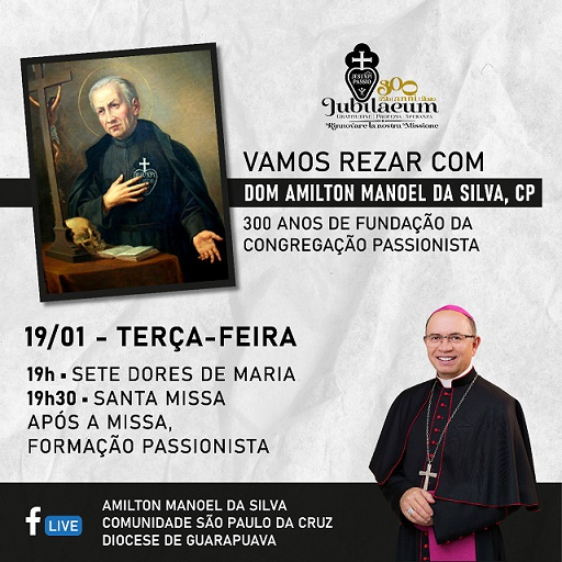 O encontro acontece a partir das 19h desta terça pelo Facebook da Diocese de Guarapuava