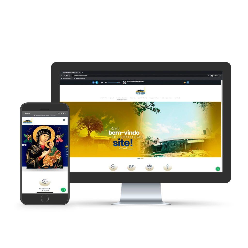O novo portal foi criado para aproximar ainda mais a comunidade do Santuário (Imagem: Divulgação)