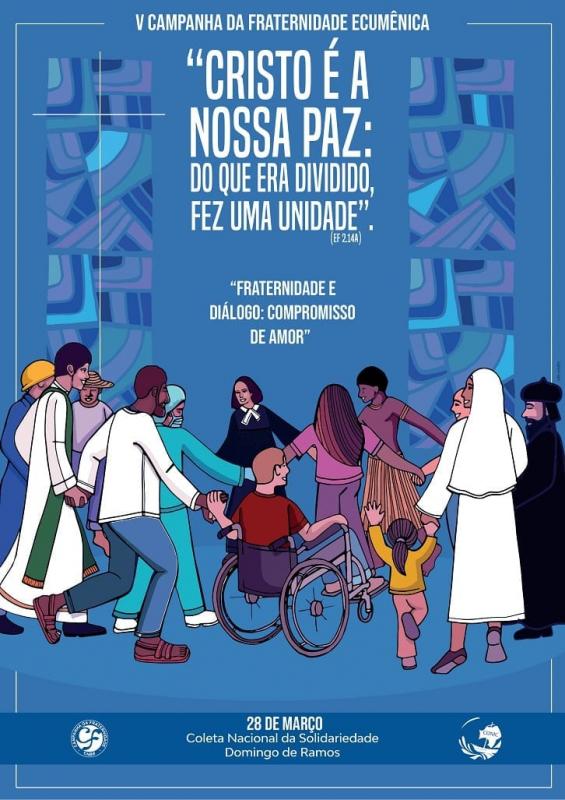 Cartaz oficial da Campanha da Fraternidade 2021 (Fonte: Divulgação CNBB)