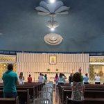A tradicional Novena do Santuário de Nossa Senhora do Perpétuo Socorro, em Curitiba, voltou a ser presencial (Imagem: PASCOM Santuário)