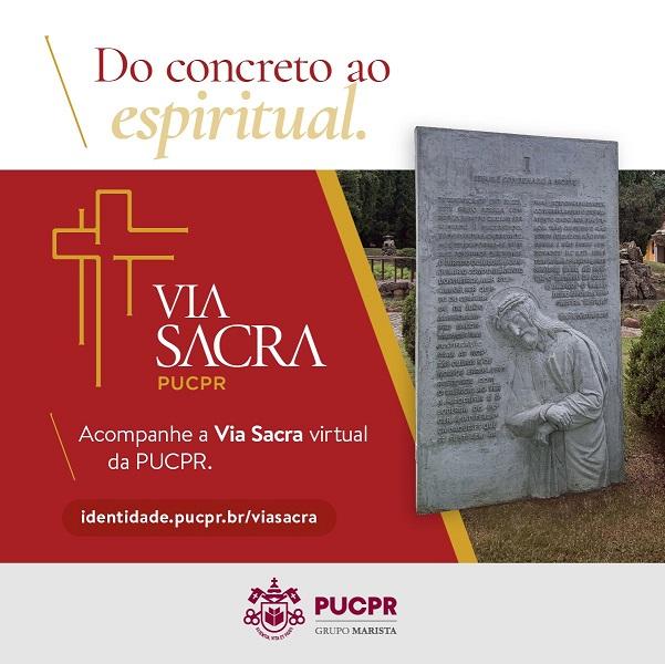 AVia Sacra pode ser acompanhada pela internet (Foto: Assessoria de Imprensa PUCPR)