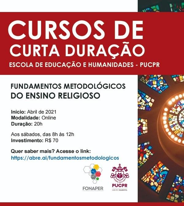 Cursos lançados pela Escola de Educação e Humanidades da PUCPR estão com inscrições abertas (Imagens: divulgação)