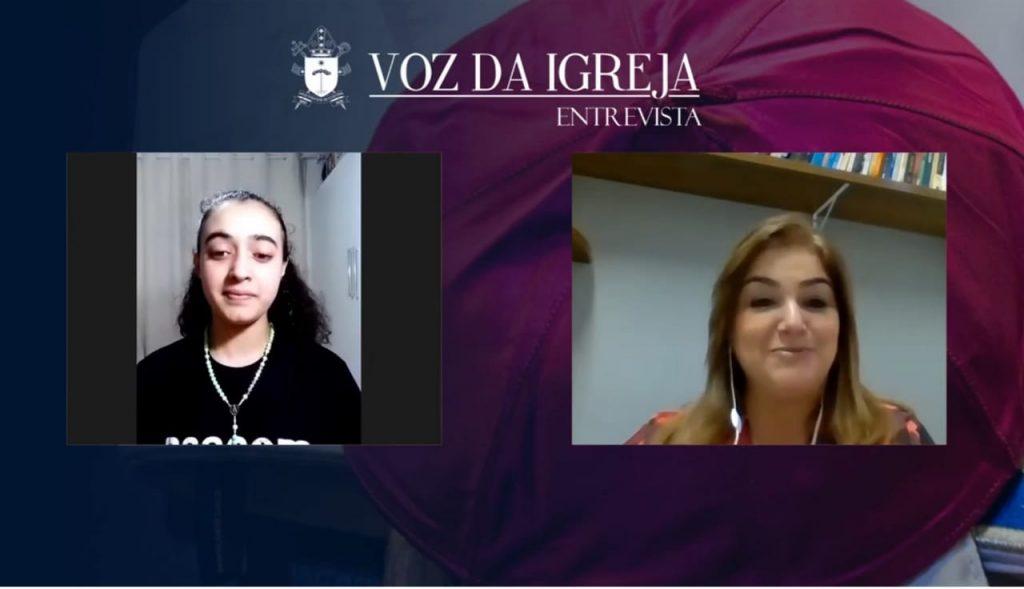 Isabella Barreto tem 14 anos e atua na Pascom Teens da Paróquia Santa Bertila (Imagem: Arquidiocese de Curitiba)