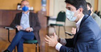 Secretário de Planejamento do Paraná em visita de cortesia à Arquidiocese (Foto: Patryck Madeira/Arquidiocese de Curitiba)