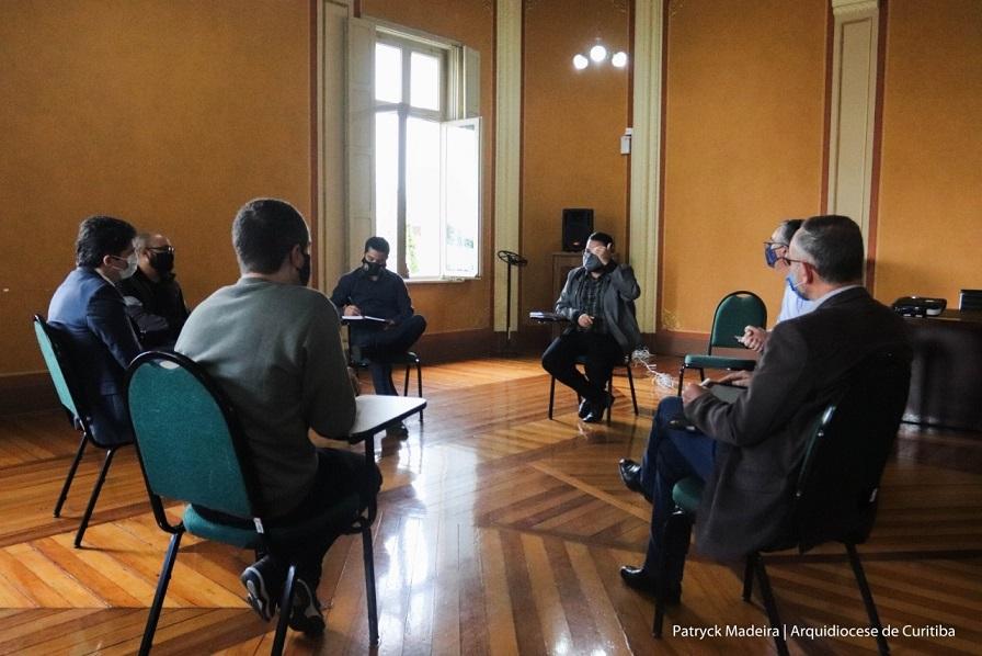 O secretário teve a oportunidade de conhecer projetos da Dimensão Social da Arquidiocese (Foto: Patryck Madeira/Arquidiocese de Curitiba)