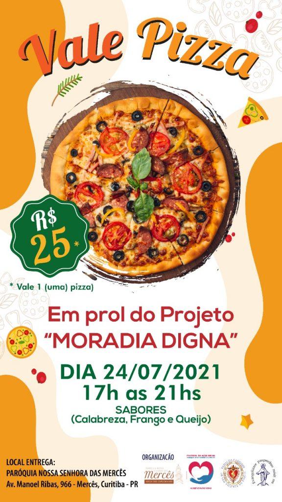 A venda de pizza será para arrecadar recursos para o projeto Moradia Digna (Imagem: Divulgação)