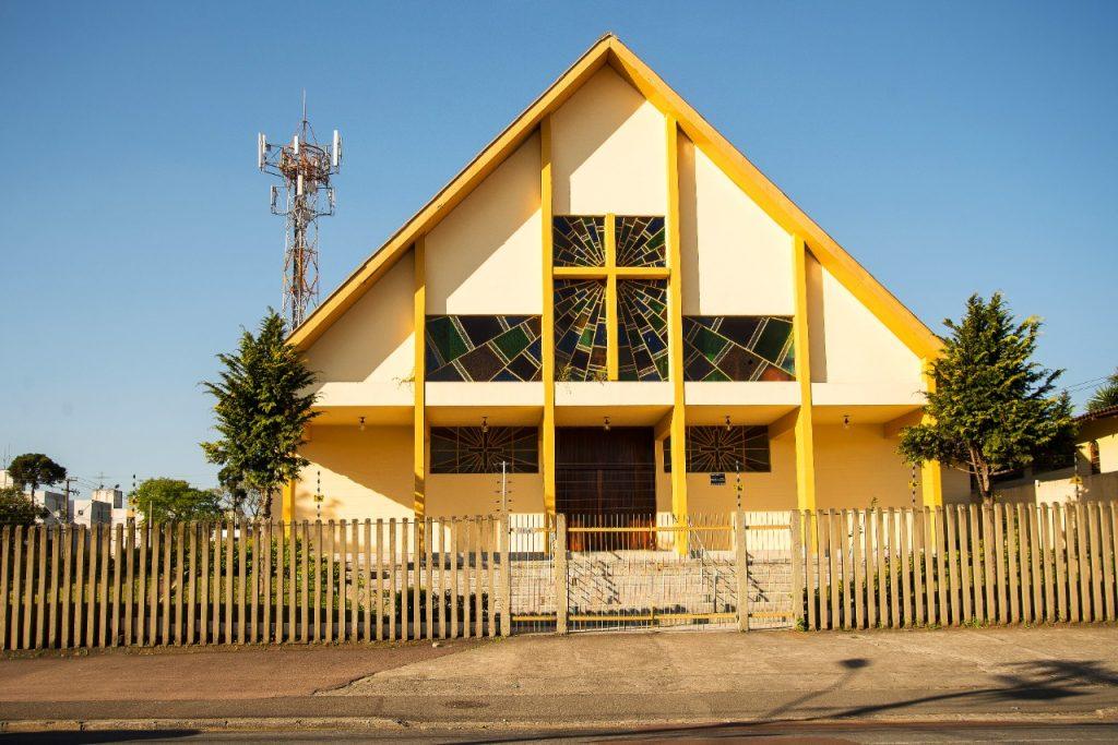 A Paróquia Sagrada Família fica na Cidade Industrial de Curitiba (Foto: Pascom/Paróquia)