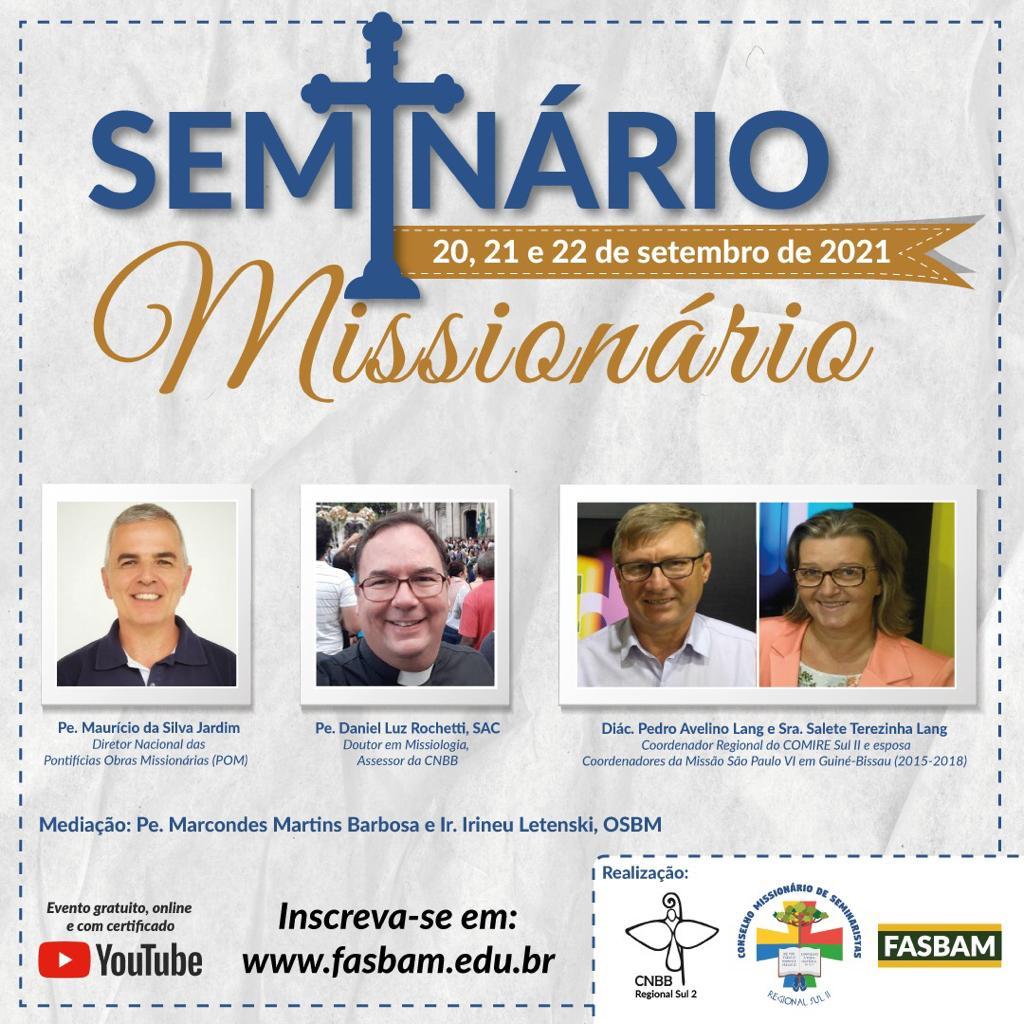 Seminário reunirá grandes nomes para discutir o papel do cristão missionário (Imagem: Divulgação)